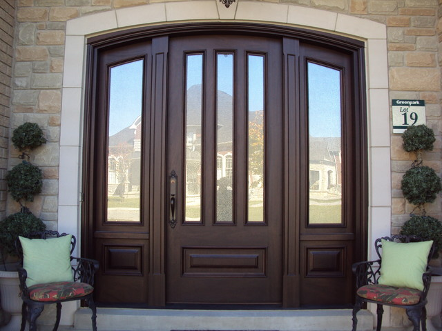 Custom glass door installation door glass repair door for Traditional front doors